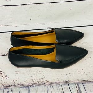 J.Crew  Size 6 Black Edie Loafer Leather Flats